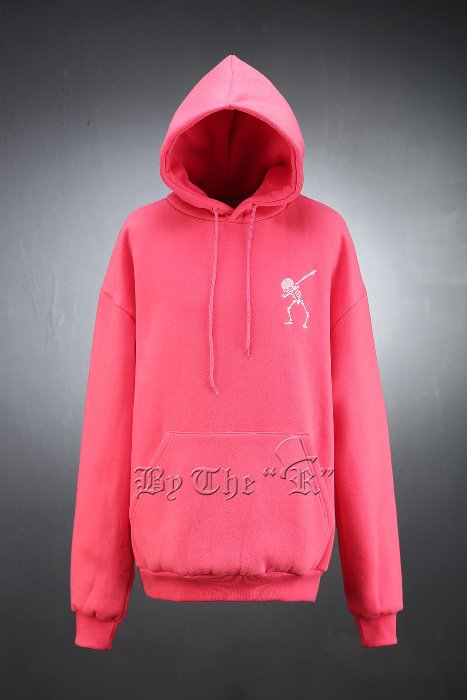 Skull Embroidery Color Hooded Tee