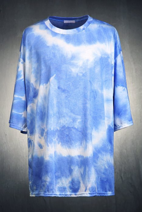 Soft  Water Tie Dye Loose Fit 3/4 sleeves