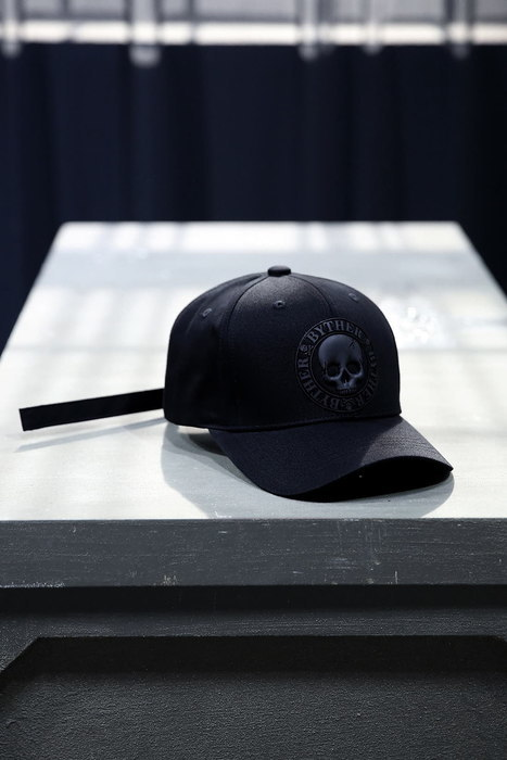 ByTheR Skull Logo Patch Cotton Ball Cap Black
