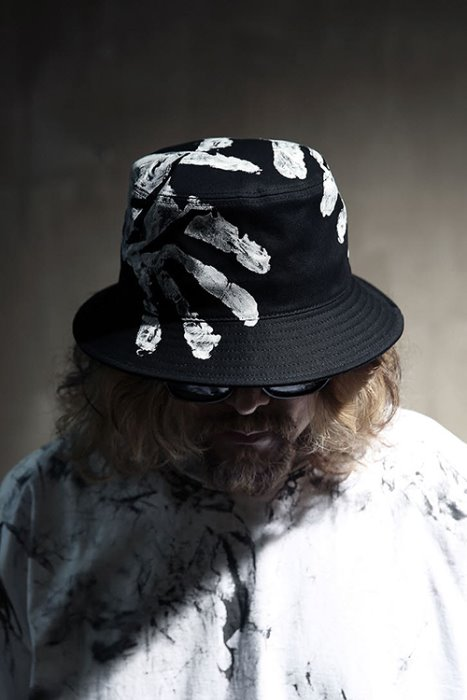 ByTheR Custom Hand Painting Cotton Bucket Hat Black