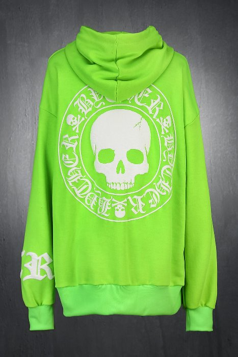 ByTheR Skull Logo Embossed Relaxed Fit Hoodie
