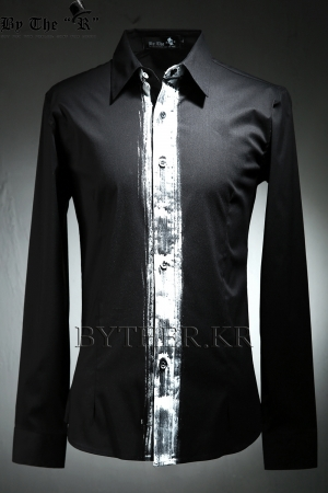 ByTheR Custom Center Paint Basic Slim Shirts