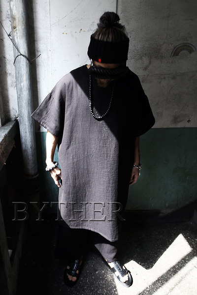 ByTheR Cotton Loose Fit Long T-shirt