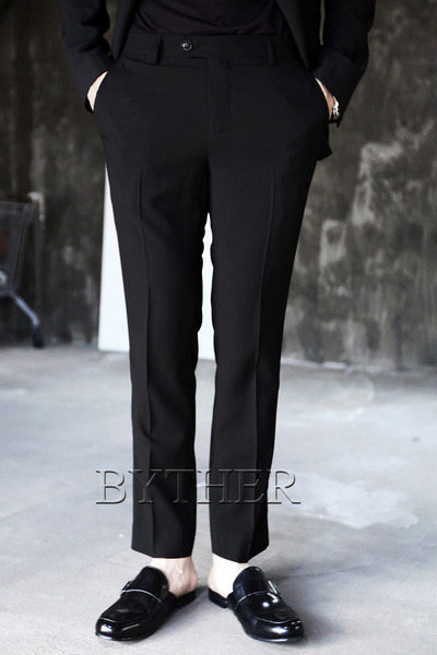 Black Summer Slim Slacks