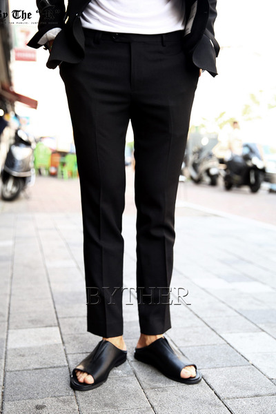 Black Cooling Slim Slacks
