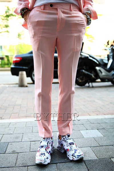 Pink Cooling Slim Slacks