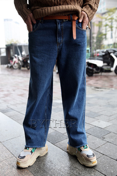 Retro Denim Wide Pants