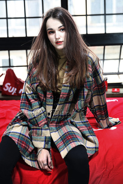 Tartan Check Loose Shirts Jacket
