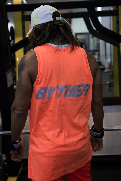 ByTheR Reflective Neon Lettering Scotch Tank Top