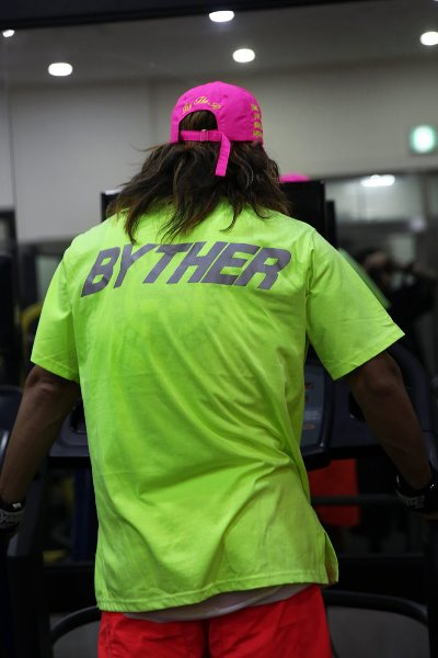ByTheR Reflective Neon Lettering Scotch T-shirt