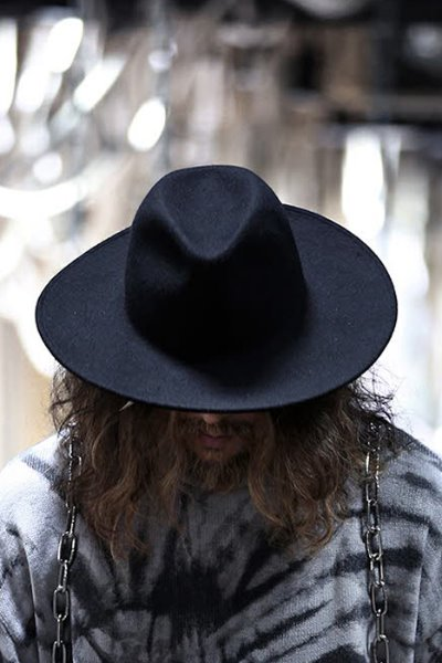 ByTheR Noir Wool Felt hat