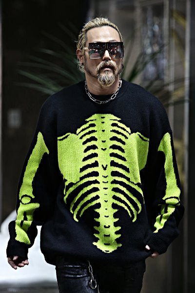 Skeleton X-Ray Loose Fit Knit Tee