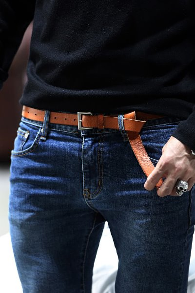 Extra Long Casual Leather Belt