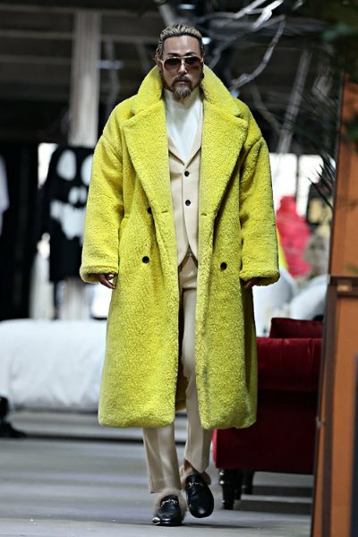 Colorful Over Fit Fleece Double Coat