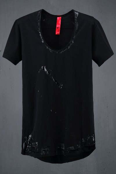 ByTheR Custom Line Silicon Loose Neck T-shirt