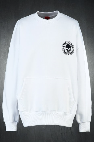 ByTheR Skull Logo Loose-fit Sweatshirt