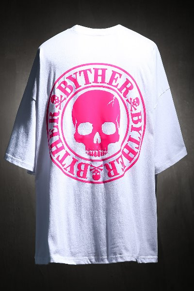 ByTheR Skull Logo Neon Color Scotch Short Sleeve Tee