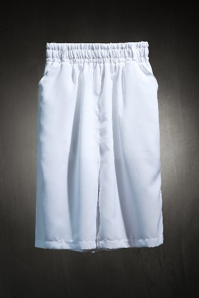 ByTheR White Cropped Wide Pants