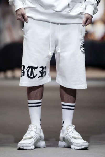 ByTheR Embossed Logo Print Baggy Fit Shorts