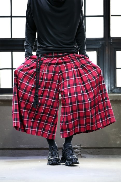 ByTheR Check Pattern Skirt Trousers