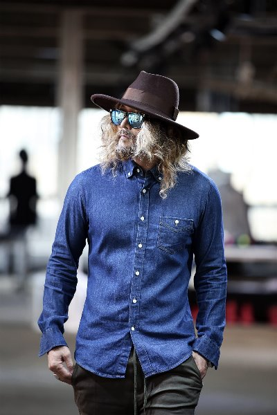 Button-down Collar Denim Shirts