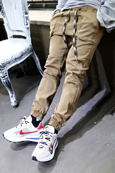 Ethnic Rope Three-dimensional Pocket Jogger Pants