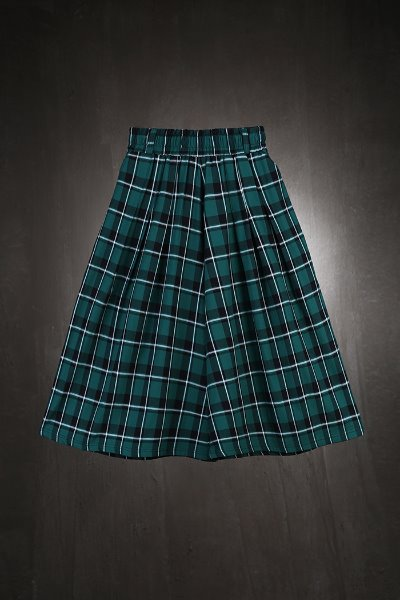 ByTheR Check Pattern Skirt Trousers Green