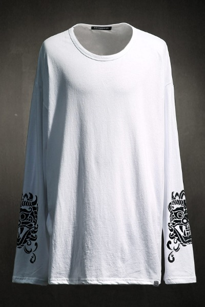 Mukha Sleeve Print Long Sleeve White