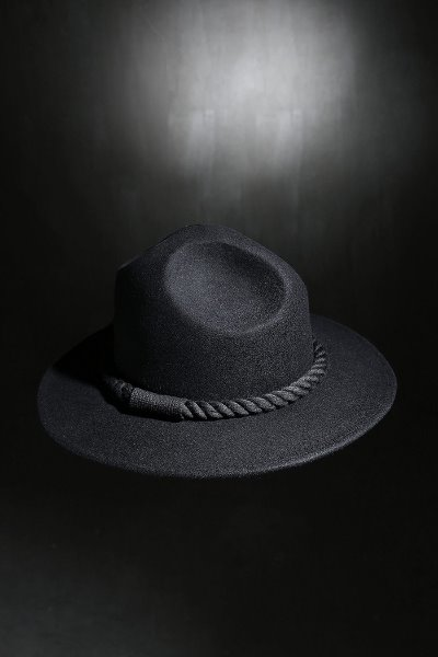Mukha Dark Rope Mountain Fedora Black