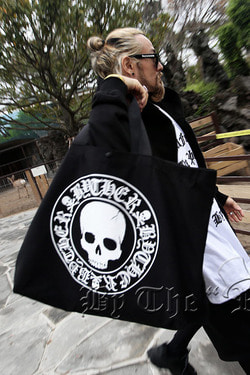 ByTheR Skull Logo Oversized Tote Bag
