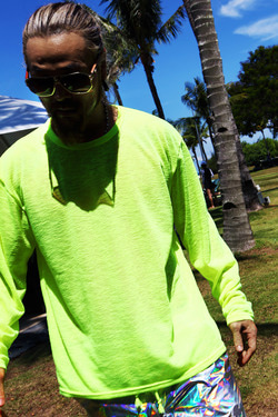 ByTheR  Silo Made Colorful Beach Neon Color Loose Fit T-Shirt