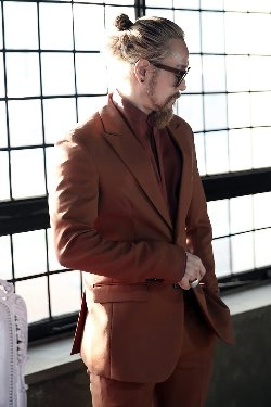 Brown Classic Two Button Suit