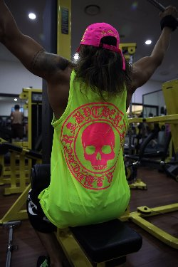 ByTheR Skull Logo Neon Mesh Tank Top(Lime, Restock 6/28)