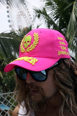 ByTheR Neon Embroidered Pink Ball Cap