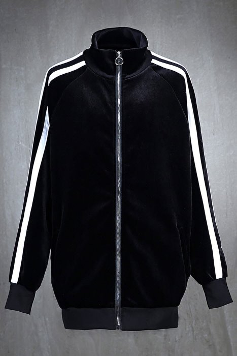 Side Line Velvet Training Zip-Up